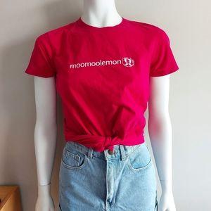 American Apparel moomoolemon parody t-shirt